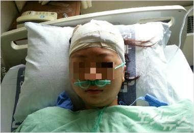 Lotte Giants Fan Hit by Foul Ball